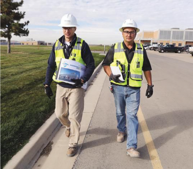 MWH employees walk a jobsite in New Mexico.